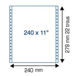 Papier listing blanc - 70 g - 240mm x11