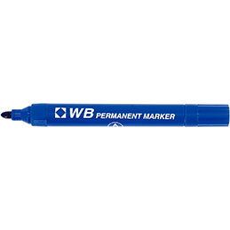Marquer permanent WB - pointe ogive - bleu (photo)