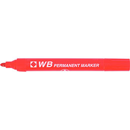 Marquer permanent WB - pointe ogive - rouge (photo)