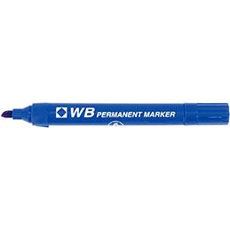 Marquer permanent WB - pointe biseautée - bleu (photo)