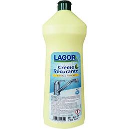 Crème à récurer Lagor - fraicheur citron - flacon de 750ml (photo)