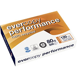 Papier blanc Evercopy Performance - 80 g - A3 - ramette de 500 feuilles (photo)