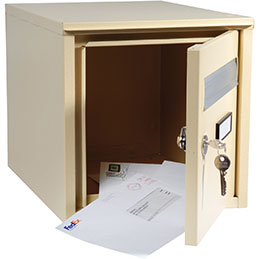 Boite aux lettres Safetool - beige - 32x32x40 (photo)