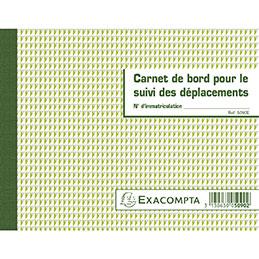 Carnet de bord pour le suivi des déplacements Exacompta (photo)