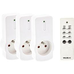 Boîte de 3 commutateurs sans fil - intérieur blanc (photo)