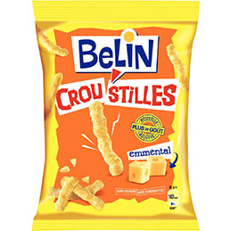 Belin croustilles à l'emmental - 88g - carton de 24 paquets (photo)