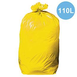 Sacs poubelles jaune - 110L - tri sélectif - carton de 200