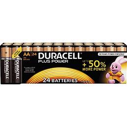 Piles LR06 Alcaline Duracell Plus Power - 1,5v - blister de 24