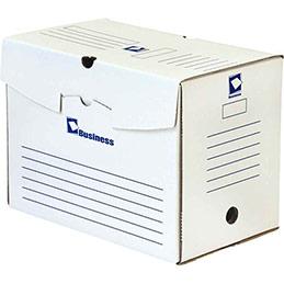 Boîtes à archive - dos 20 cm - en carton ondulé - paquet de 50 - blanc