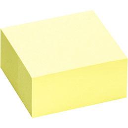 Bloc cube repositionnables - 75x75 mm - 400 feuilles - jaune pastel (photo)