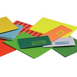 Etiquettes - A4 - vert - boîte de 100 (photo)