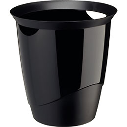 Corbeille à papier TREND Durable - 16 litres - noir (photo)