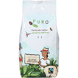 Café moulu bio Puro Fairtrade - paquet de 1kg (photo)