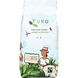 Café grain bio Puro Fairtrade - paquet de 1kg (photo)
