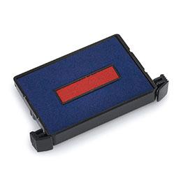 Recharge d'encre 6/4750 bleu et rouge pour tampon Trodat 4750/2 - lot de 10