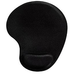 Tapis de souris avec repose-poignet - gel noir (photo)