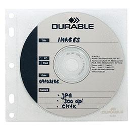 Recharges pochettes pour le classement de 1 CD/DVD - paquet de 10 (photo)