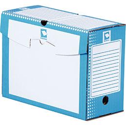Boîtes à archives - carton rigide - dos 15cm - bleu - paquet de 25