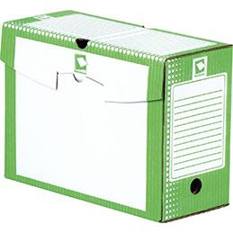 Boîtes à archives - carton rigide - dos 15cm - vert - paquet de 25
