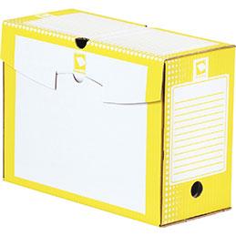 Boîtes à archives - carton rigide - dos 15cm - jaune - paquet de 25