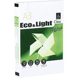 Papier blanc Eco&Light - 75 g - A3 - ramette de 500 feuilles (photo)