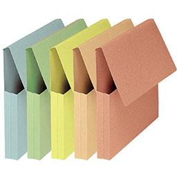 Pochettes VIP à rabat Elba - format 24x32 cm - pastel assortis - paquet de 50