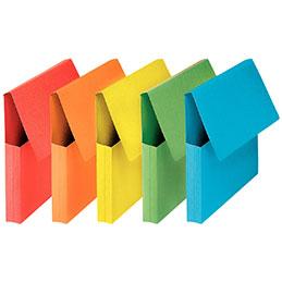 Pochettes VIP à rabat Elba - format 24x32 cm - coloris vifs assortis - paquet de 50