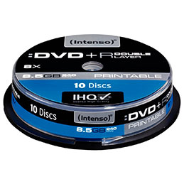 DVD+R Double couche - 8,5GO printable - lot de 10 (photo)