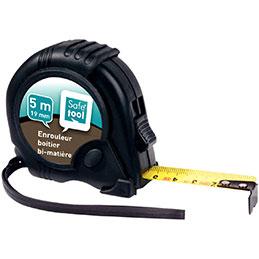 Mètre à ruban Safetool - 5m - boitier en caoutchouc -  Largeur : 19 mm (photo)