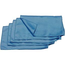 Microfibres lisses - bleues - 40x35cm - sachet de 5 (photo)