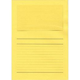 Pochettes coins Exacompta Forever - papier 120 g - format 22x31 cm avec fenêtre cristal 18x10 cm - jaune intense - paquet de 100