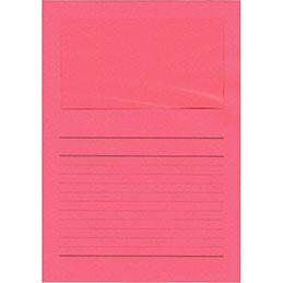Pochettes coins Exacompta Forever - papier 120 g - format 22x31 cm avec fenêtre cristal 18x10 cm - rouge intense - paquet de 100
