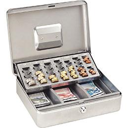 Coffret caisse + monnayeur  argent RESKAL (photo)