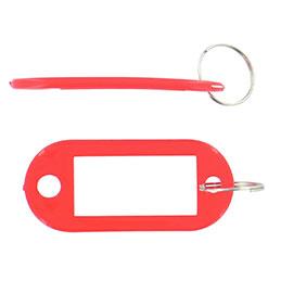 Porte-clés avec étiquette Safetool - rouge - sac de 20 (photo)