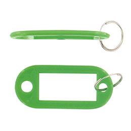 Porte-clés avec étiquette Safetool - vert - sac de 20 (photo)