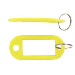 Porte-clés avec étiquette Safetool - jaune - sac de 20 (photo)