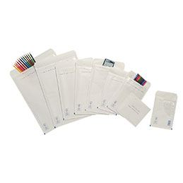 Pochettes bulle d'air blanches - 22x26.5 cm - carton de 100 (photo)