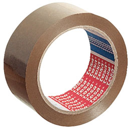 Rouleaux adhésif PVC Tesa - 50mmx100m - havane - lot de 6 (photo)