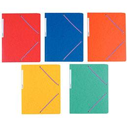 Chemise simple à élastique en carte lustrée 5/10e - 390g - 32x24cm - coloris assortis