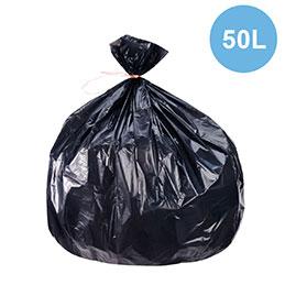 Sacs poubelles - 50L - déchets légers - carton de 500 (photo)