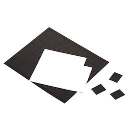 Plaques de 84 aimants adhésifs safetool 25x20mm pochette de 2