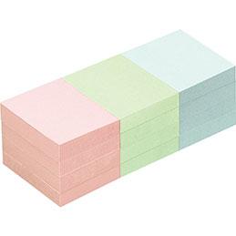 Blocs de notes repositionnables - 40 x 50 mm - 100 feuilles - couleurs pastels assorties - lot de 12 (photo)