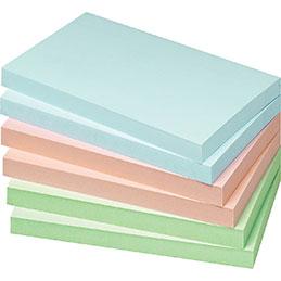 Blocs de notes repositionnables - 75 x 125 mm - 100 feuilles - couleurs pastels assorties - lot de 12 (photo)
