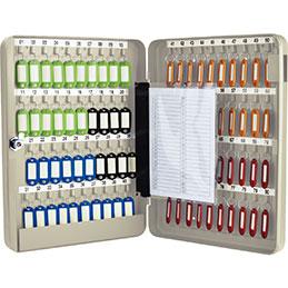Armoire pour 80 clés + 80 porte clés Pavo - gris (photo)