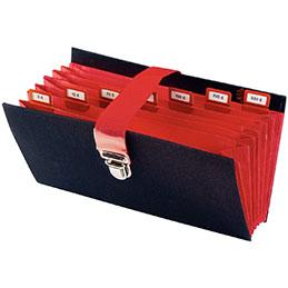 Classeur de caisse 8 compartiments Extendos - noir (photo)