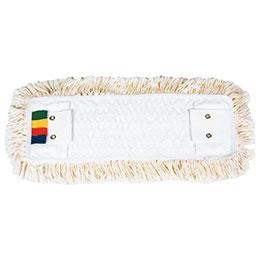 Frange à languette/poche - 40 cm - coton (photo)