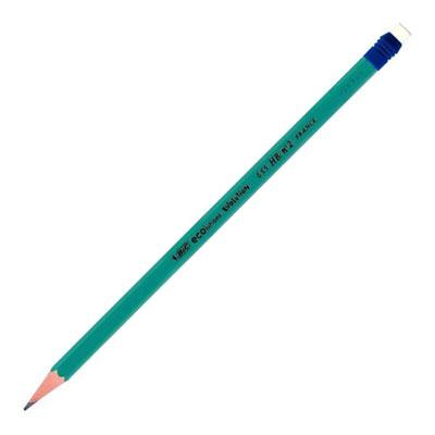 Boite de 12 crayons Evolution bout gomme HB. (photo)