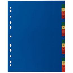 Intercalaires alphabétiques - polypropylène de couleur 12/100ème - A4+ - jeu de 20 (photo)