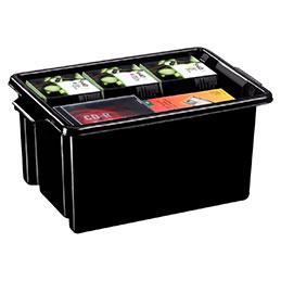 Bac de rangement STRATA - 14,5 litres -noir (photo)