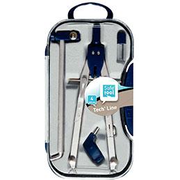 Coffret compas + 4 accessoires Safetool (photo)